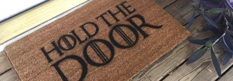 Geeky Welcome Mats for Spring
