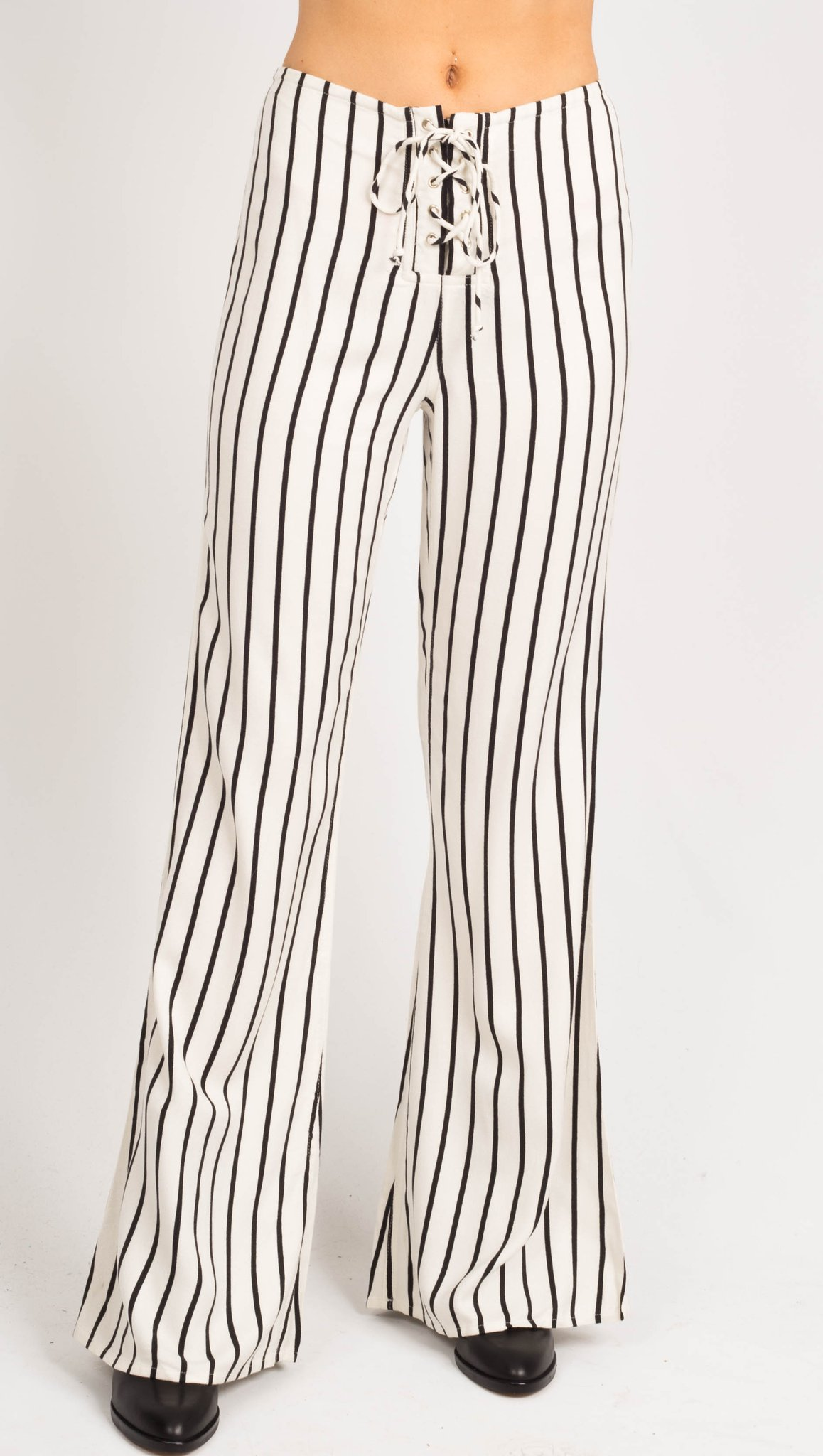 Black and White Striped Pants – Vandevort