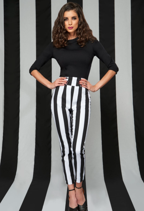 Striped Ankle Pants – Pinup Girl Clothing
