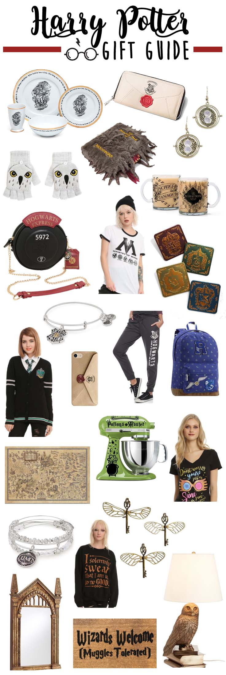Gift ideas for Harry Potter fans.