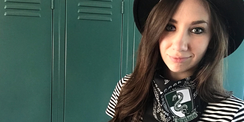 Geek Chic Festival Fashion – DIY Slytherin Bandana