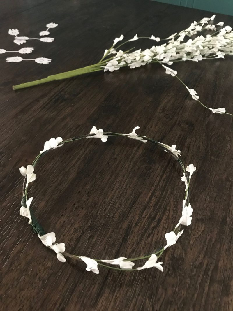 Star wars flower crown tutorial popcorner reviews poky pieces of thin wire if any pieces still feel sharp and exposed wrap a small piece of floral tape around them to cover the sharp edge izmirmasajfo