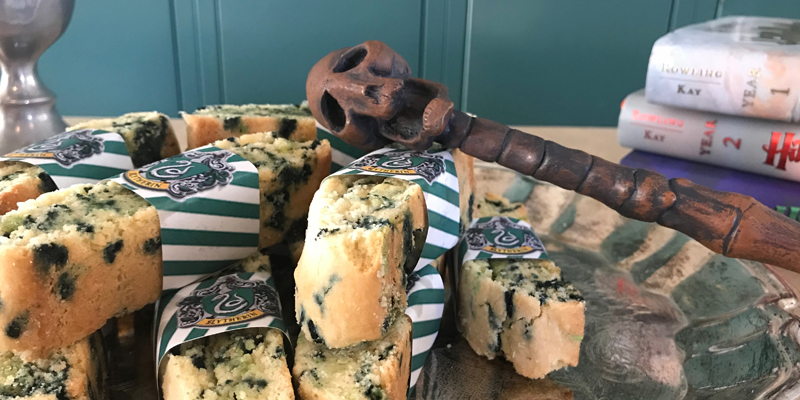 Slytherin Birthday Cake Biscotti