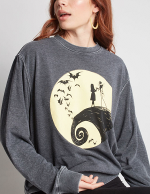 Oversized Nightmare Before Christmas Sweater