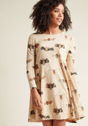 Long Sleeve Bat Dress