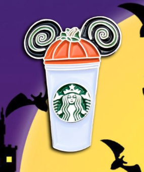Halloween Mickey Starbucks Pin
