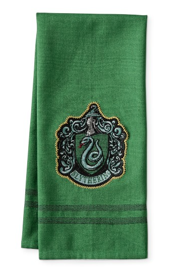 Slytherin Dish Towel from Williams Sonoma