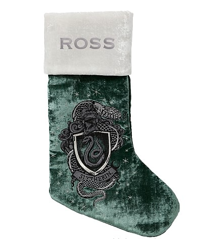 Slytherin Stocking from Pottery Barn