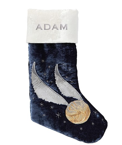 Golden Snitch Stocking from Pottery Barn