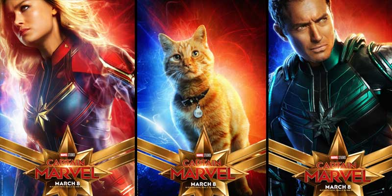 Collect Them All! New Captain Marvel Character Posters Are Here