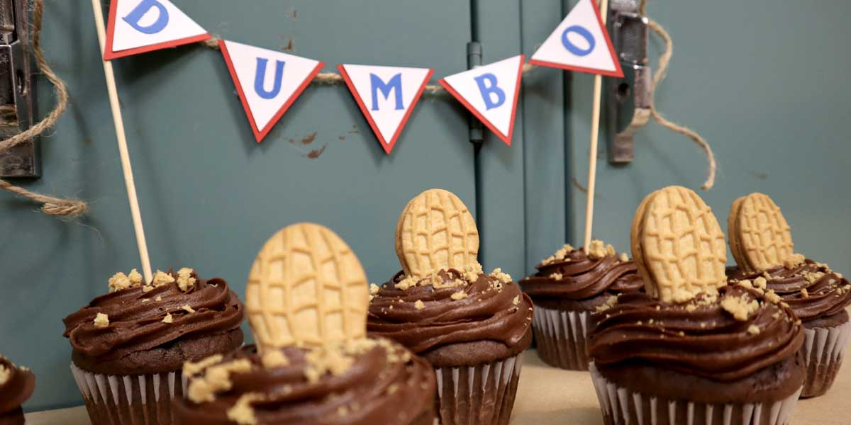 Dumbo Cupcakes with Free Banner Template