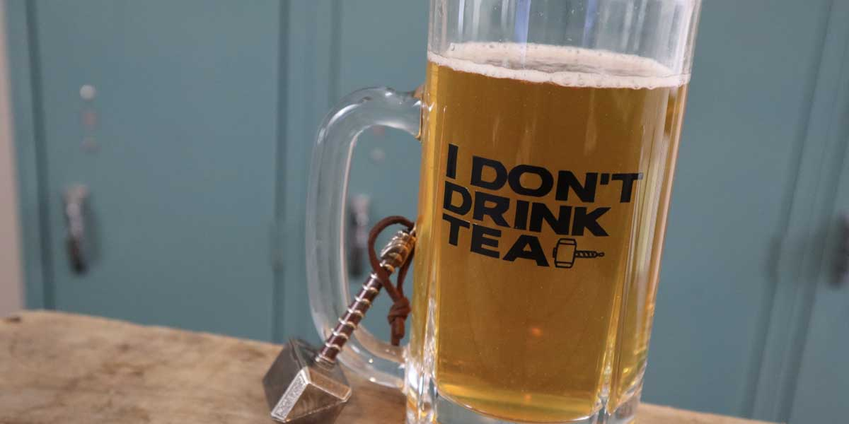 "DIY: ""I Don't Drink Tea"" Thor Beer Stein"