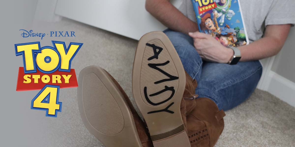 'Andy' Shoe Sticker and New Toy Story 4 Trailer