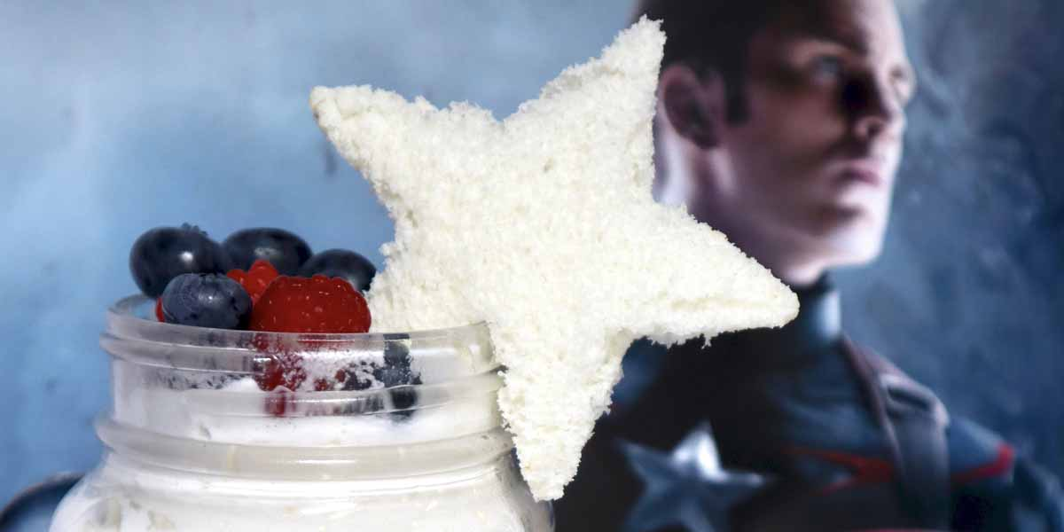 No-Bake Captain America Dessert