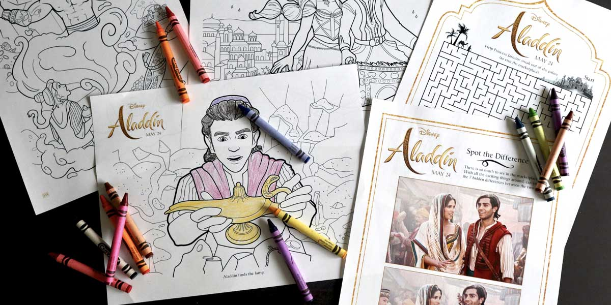 Download: Aladdin Coloring and Activity Sheets