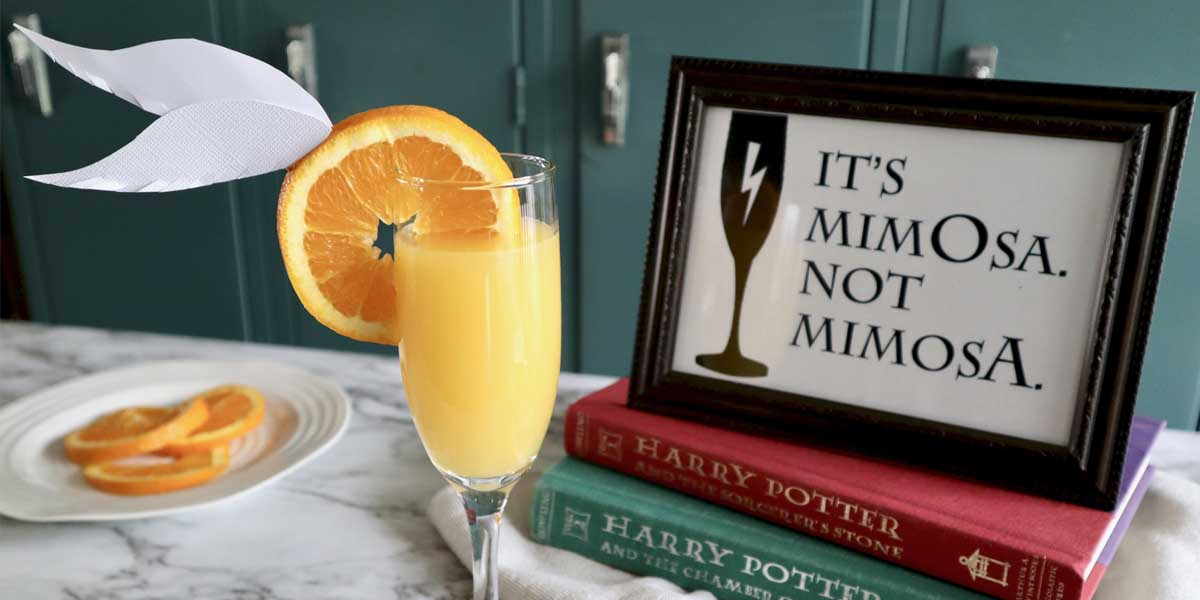 Harry Potter Mimosas and Printable Sign