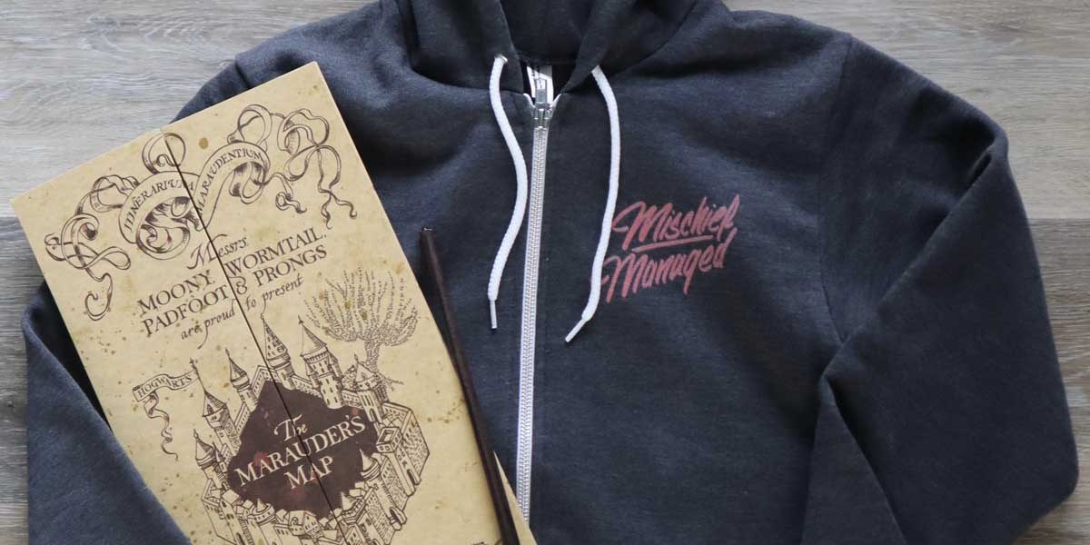 Mischief Managed Zip-Up Hoodie by Jordandené [Plus 15% Off Discount Code]