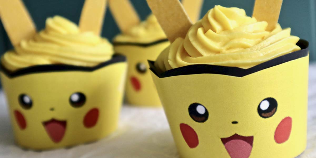 Pikachu Cupcakes with Printable Cupcake Wrappers