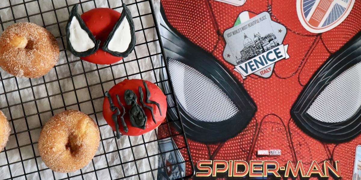 Spider-Man Donuts with Edible Decorations