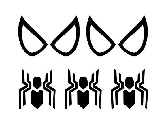 Spider-Man Eyes and Logo Stencil
