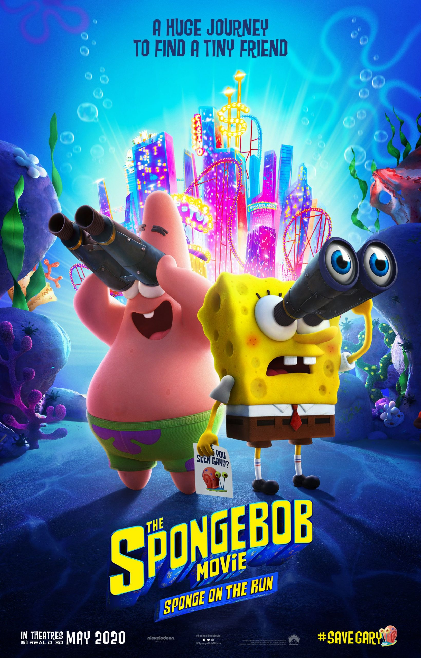 New Spongebob Movie: Sponge on the Run movie poster