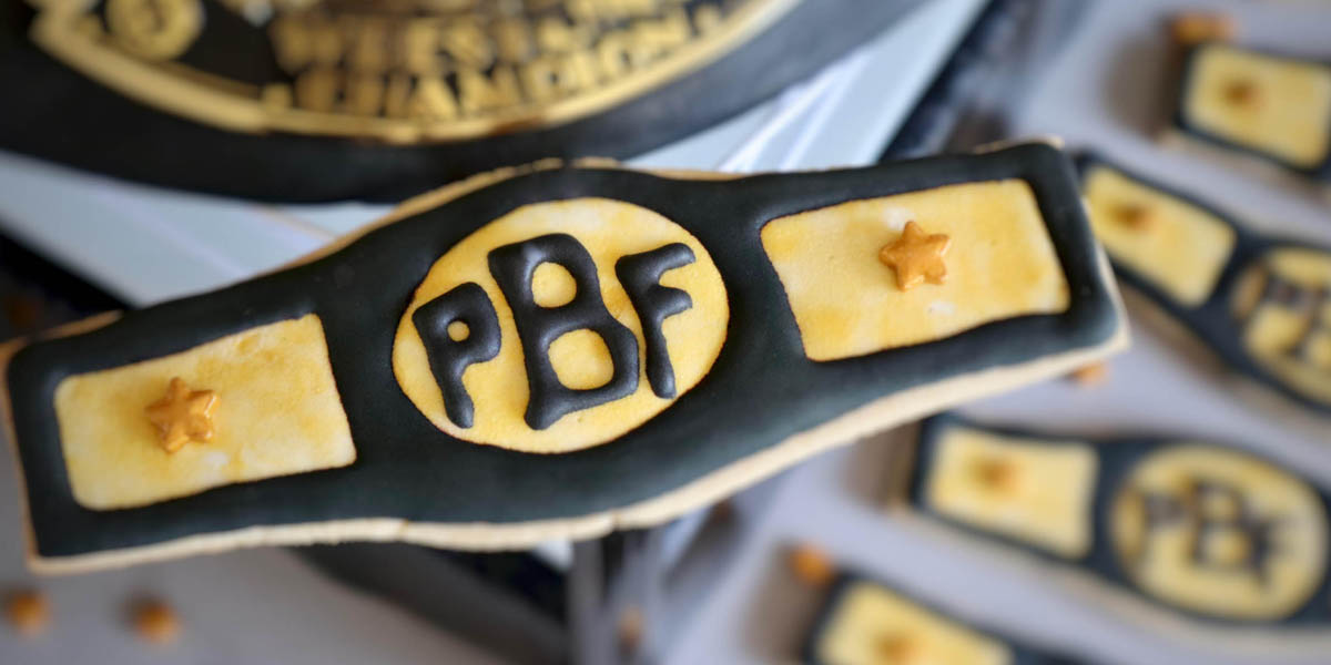Peanut Butter Falcon Wrestling Belt Cookies