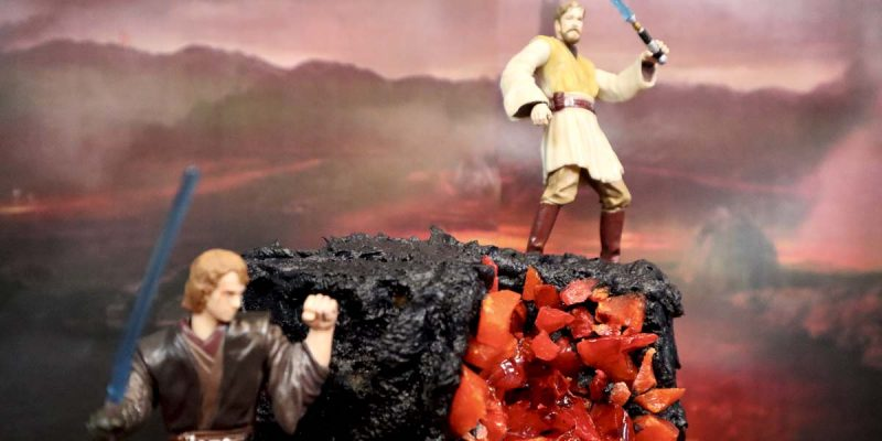 Obi Wan And Anakin Mustafar Cake Inspired By Star Wars Revenge Of The Sith Popcorner Reviews