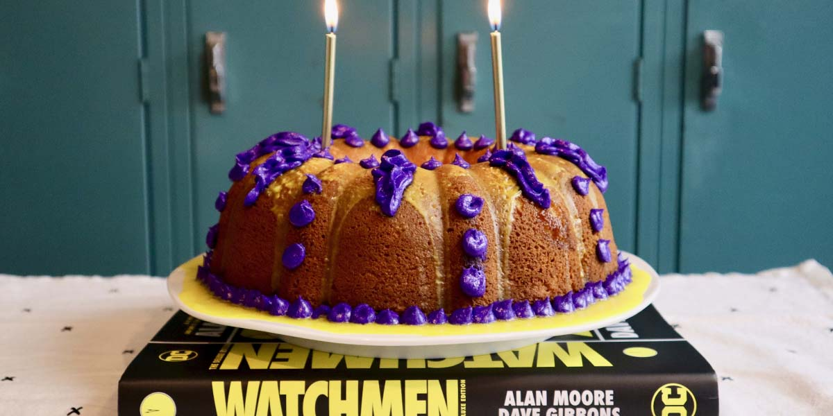 Adrian Veidt's Birthday Cake from HBO's The Watchmen