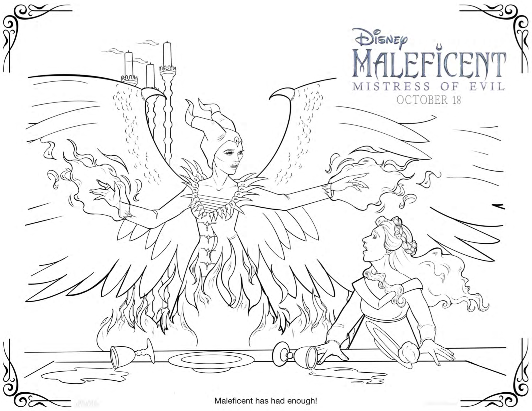 maleficent mistress of evil party ideas diy headband coloring sheets and recipes popcorner reviews maleficent mistress of evil party