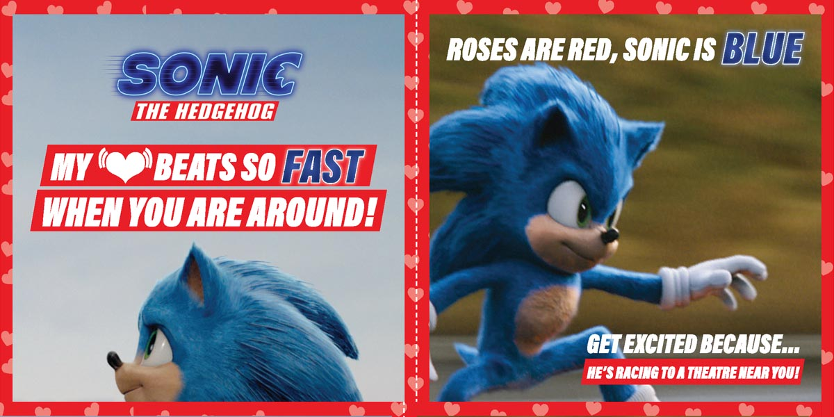 Printable Sonic The Hedgehog Valentine's Day Cards