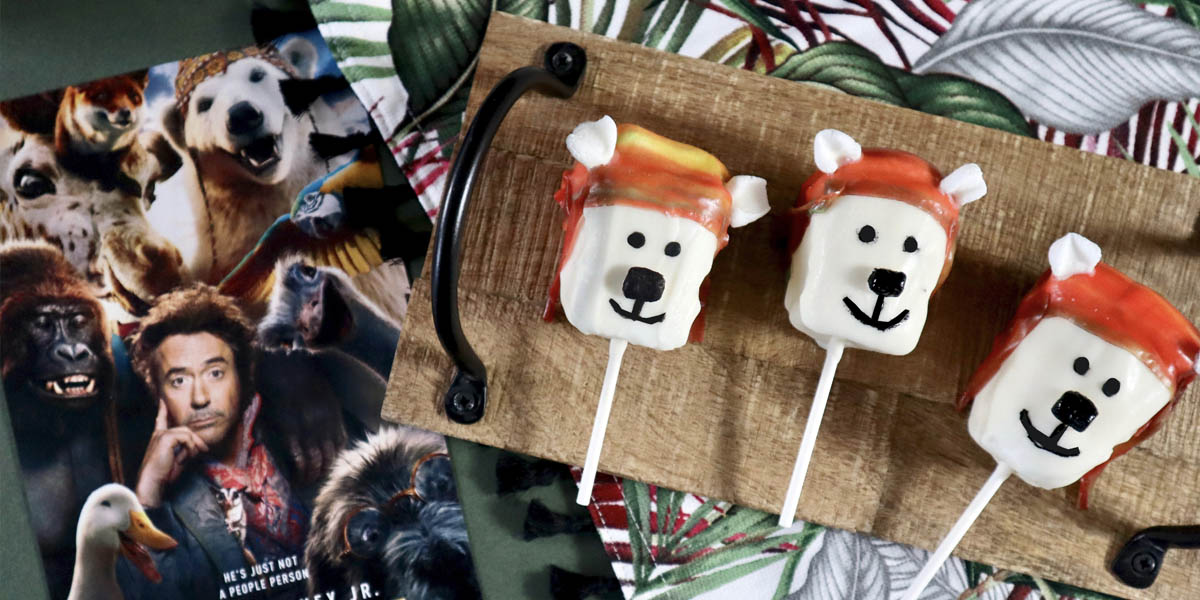 Yoshi Marshmallow Pops Inspired by Dolittle