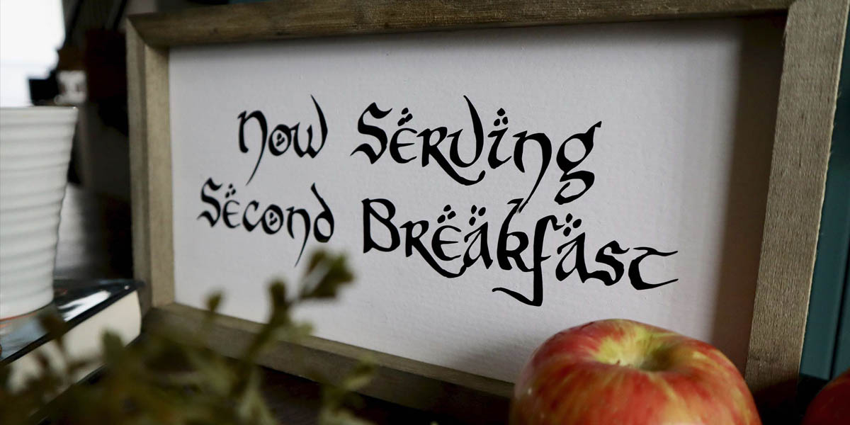 DIY Second Breakfast Hobbit Sign from Lord of the Rings