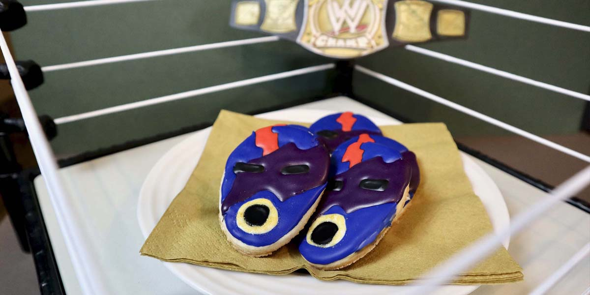 Leo's Wrestling Mask Cookies from The Main Event on Netflix