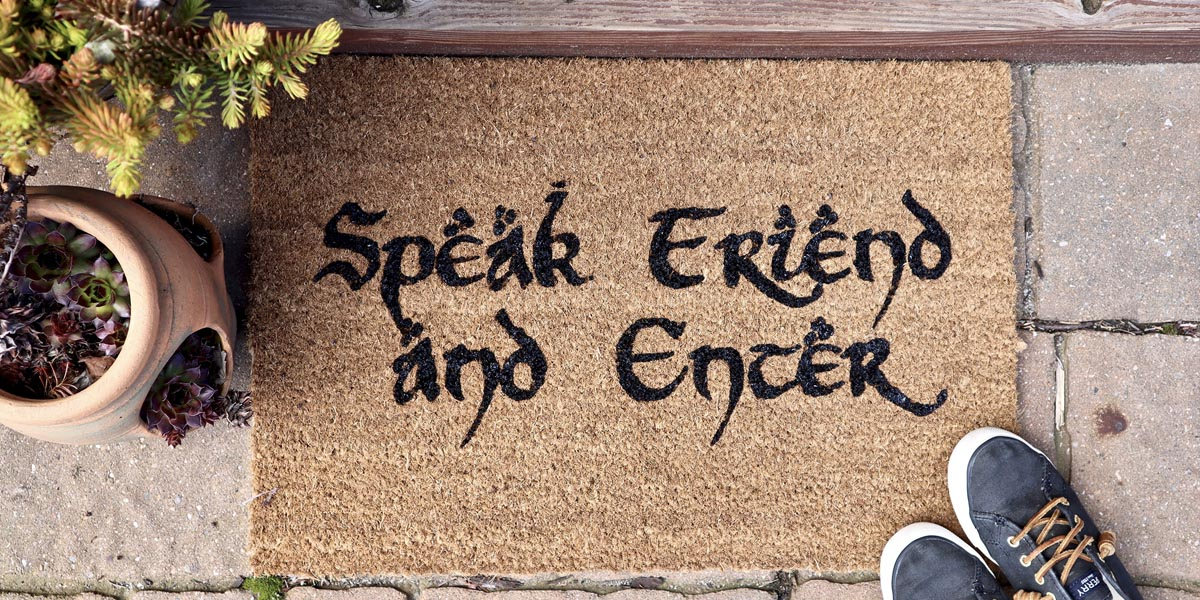 DIY 'Speak Friend and Enter' Lord of the Rings Welcome Mat