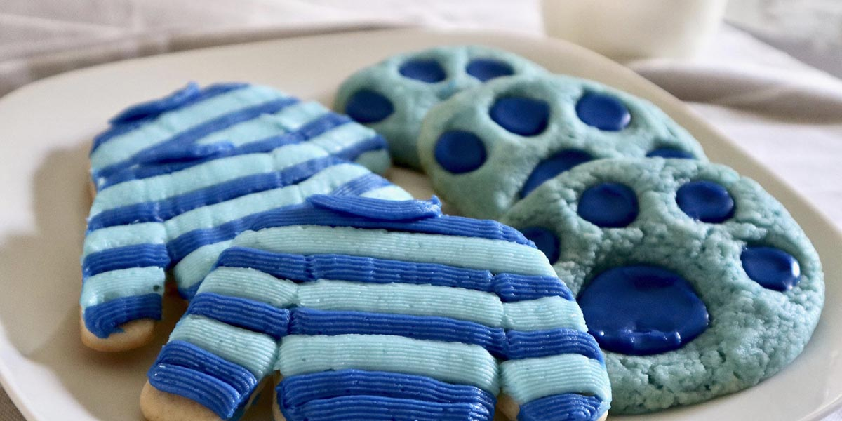 Blue's Clues and You! Cookies — Paw Prints and Josh's Sweater!
