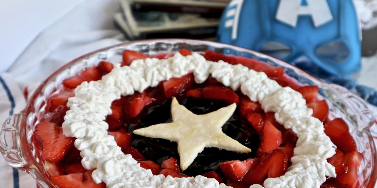 Captain America Shield Pie