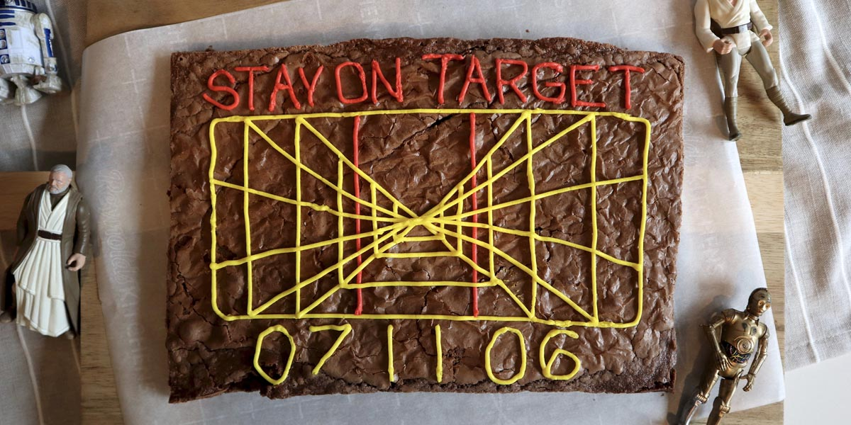 'Stay On Target' Star Wars Brownie Recipe