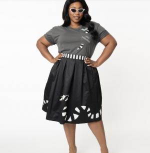 Beetlejuice Plus Size Sandworm Jayne Swing Skirt