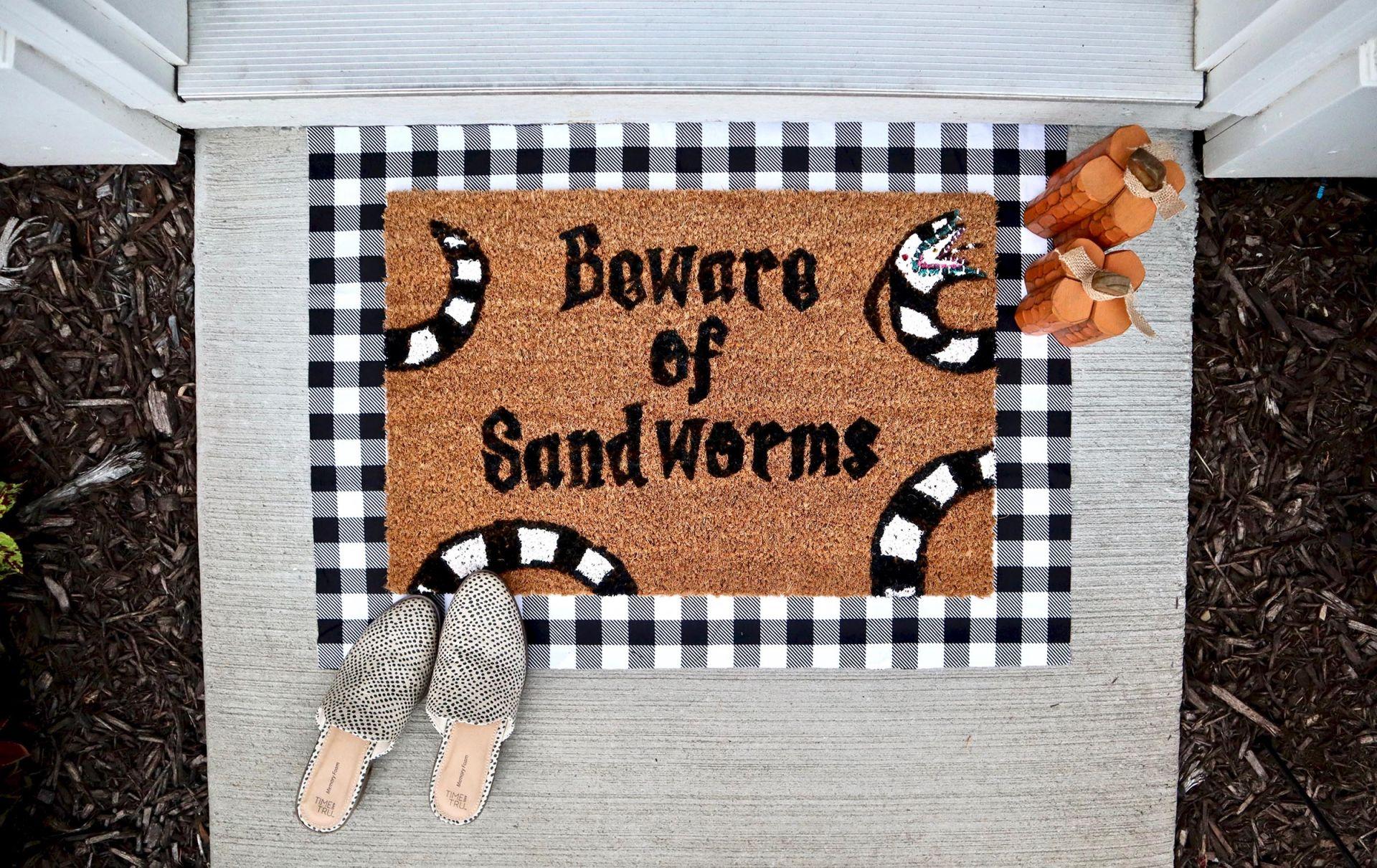 Beware of Sandworms' Welcome Mat – Beetlejuice Home Decor ...