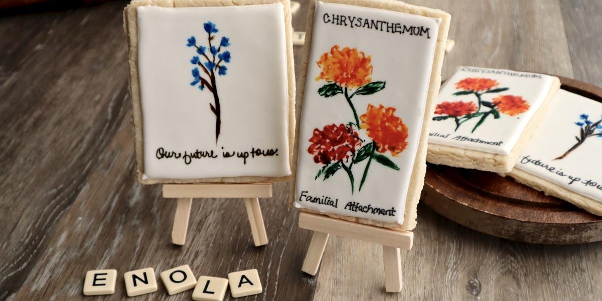 Enola Holmes Chrysanthemum Cookies