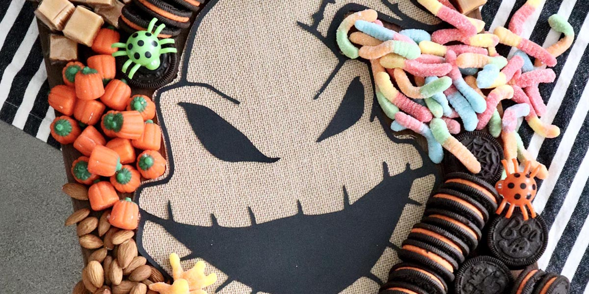 Oogie Boogie's Halloween Candy Charcuterie Board