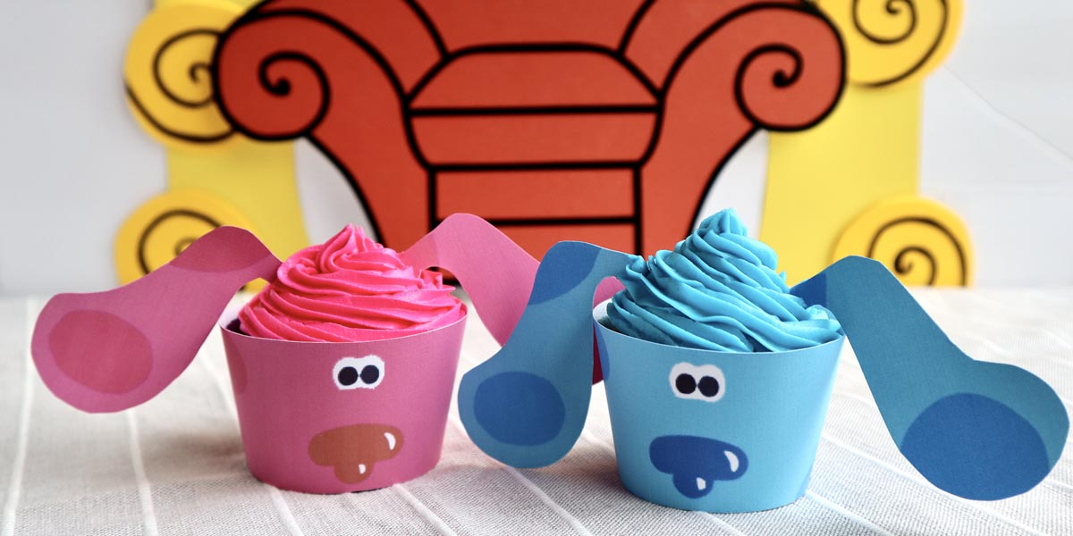 Blue and Magenta Cupcakes Inspired by Blue's Clues & You! Caring with Blue