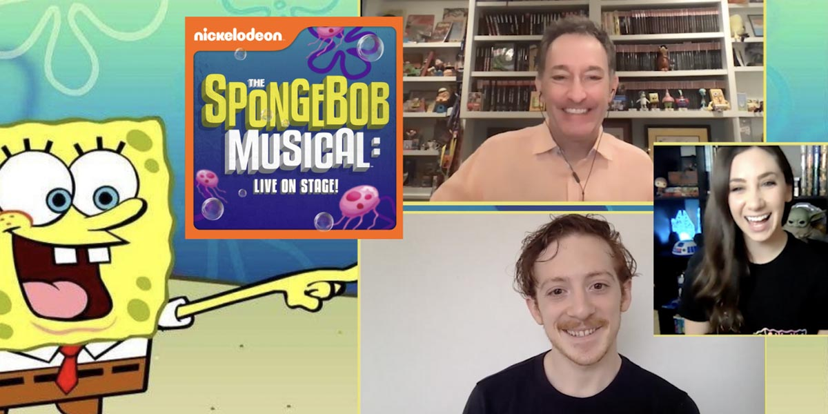 Interview with SpongeBob! Ethan Slater and Tom Kenny Discuss The SpongeBob Musical: Live on Stage!