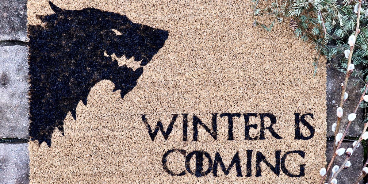 DIY Game of Thrones Doormat: Winter is Coming