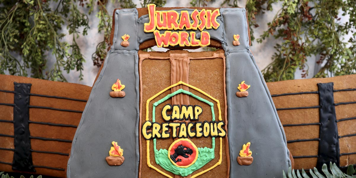 Make Your Own Jurassic World Gingerbread Gates