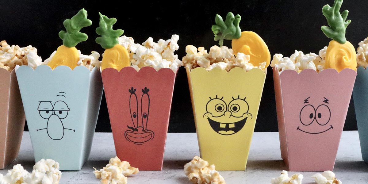 SpongeBob SquarePants Popcorn Bar with Salty and Sweet Options