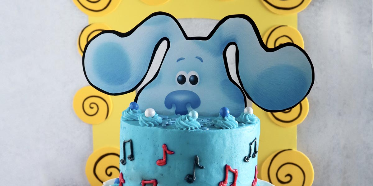 Blue's Clues and You! Cake (with Printable Cake Topper) to Celebrate Blue's Sing-Along Spectacular