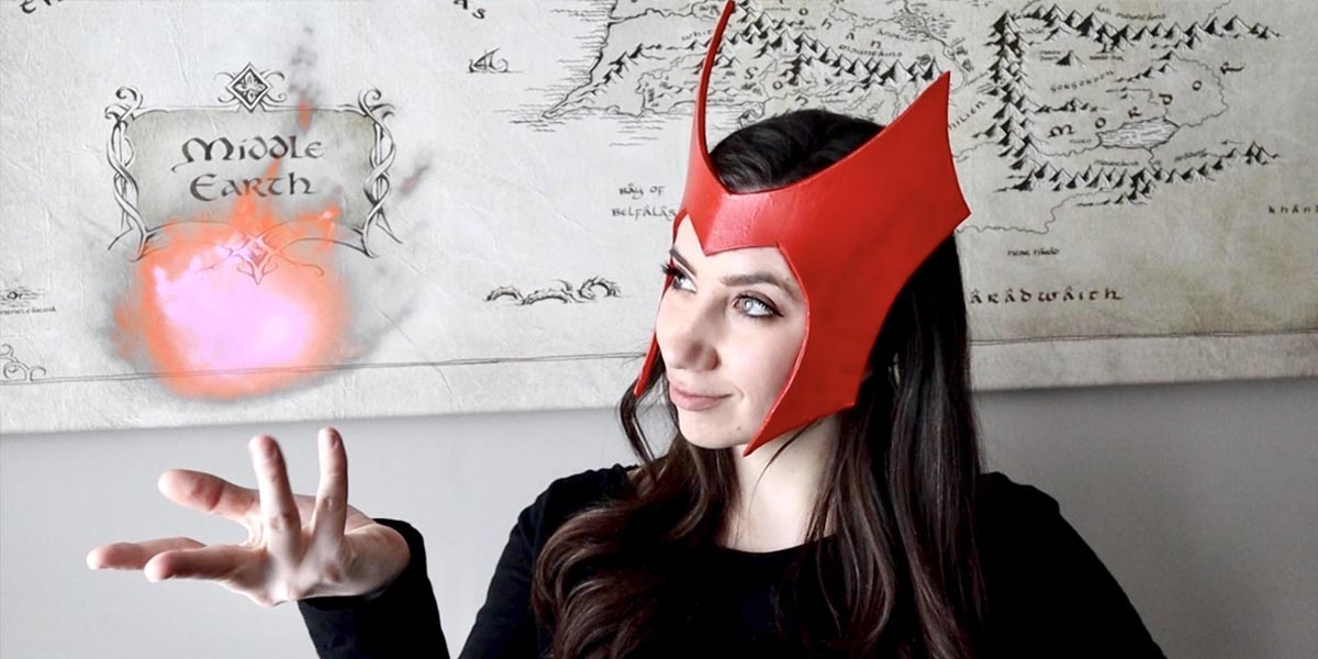 DIY Wanda Maximoff's Scarlet Witch Headpiece from WandaVision (with Printable Template)