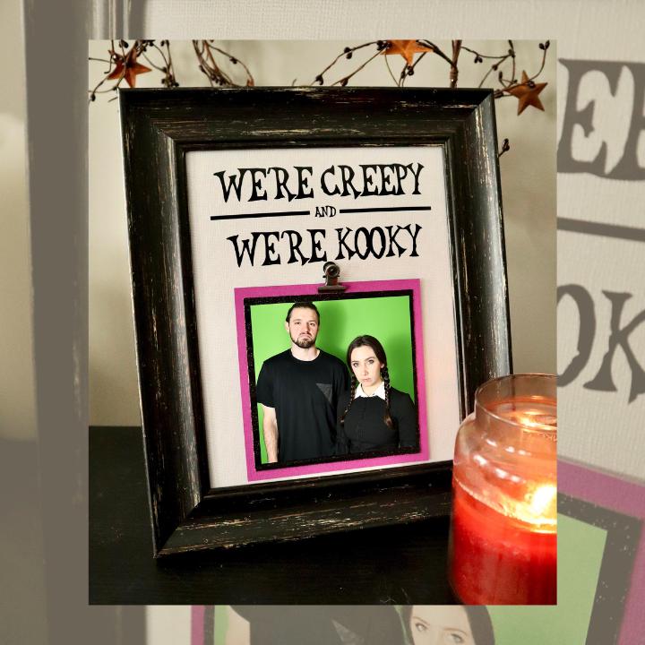 DIY Addams Family 2 Photo Frame